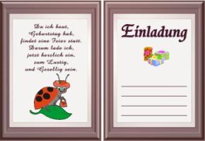 Einladungskarten Geburtstag Text 3