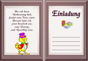 Schön Einladungskarten Geburtstag Text 1