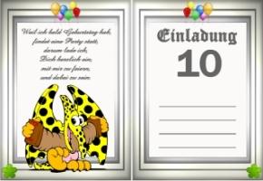 Einladungskarten Geburtstag 10 Jahre Kostenlos