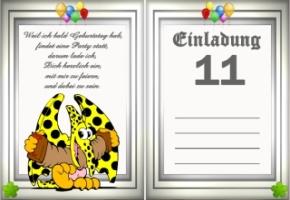 Einladungen Zum 11 Geburtstag Kostenlos Hylen Maddawards Com