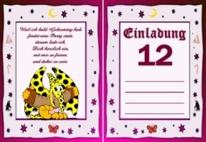 Einladungskarten Geburtstag Jahre 12 1
