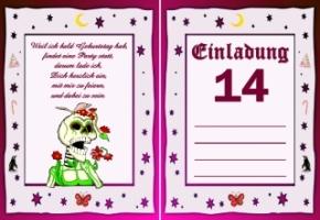 Schön Einladungskarten Geburtstag Jahre 14 1