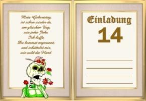 einladungskarten 14 geburtstag – cloudhash, Einladungsentwurf