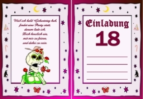Einladungskarten Geburtstag 18 Jahre Kostenlos