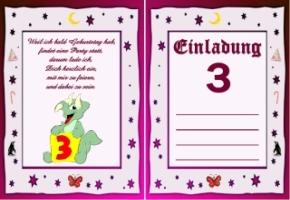einladungskarten 2 geburtstag – ledeclairage, Einladungsentwurf