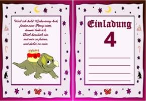 Schön Einladungskarten Geburtstag 4 Jahre Kostenlos, Einladung