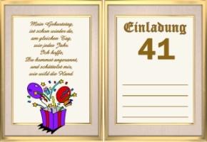 Einladungskarten Geburtstag 41 Jahre Kostenlos