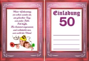 einladungskarten 50. geburtstag kostenlos | katrinakaif, Einladung