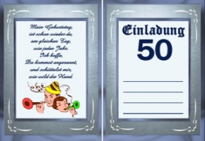 lustige einladungskarten zum 50. geburtstag kostenlos – color, Einladung