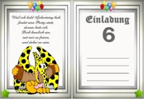 Einladungskarten Geburtstag Jahre 6 03