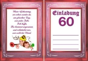 ... geburtstag jahre 60 3 einladungskarten geburtstag jahre 60 4