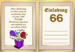 Einladungskarten Geburtstag 66 Jahre Kostenlos