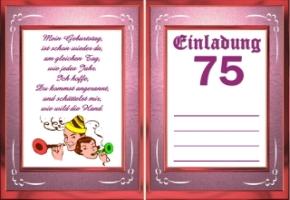 Einladungskarten Geburtstag Jahre 75 2