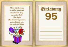 Einladungskarten Geburtstag 95 Jahre Kostenlos