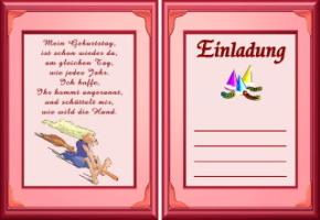 Einladungskarten Vorlagen Geburtstag Texte Kostenlos