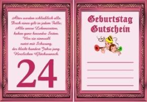 Geburtstagswünsche für tochter zum 24