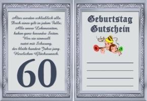 Gutscheine Geburtstag 60 Jahre Kostenlos