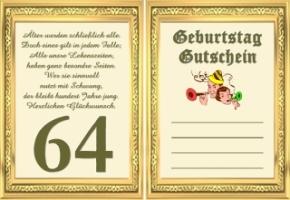 Glückwünsche 64 Geburtstag Hylenmaddawardscom