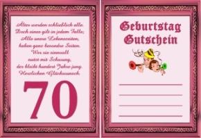 Gutscheine Geburtstag 70 Jahre Kostenlos