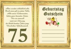 Geburtstagswünsche Zum 75.