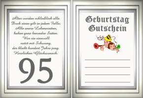 Gutscheine Geburtstag 95 Jahre Kostenlos