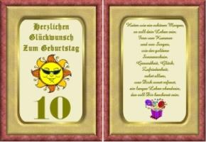Lustige Geburtstag Wunsche 10 Jahre Kostenlos Ausdrucken