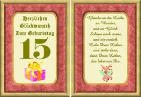 Lustige Geburtstag Wünsche 15 Jahre Kostenlos Ausdrucken