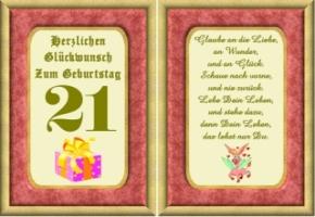 Lustige Geburtstag Wünsche 21 Jahre Kostenlos Ausdrucken