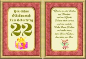 Lustige Geburtstag Wünsche 22 Jahre Kostenlos Ausdrucken