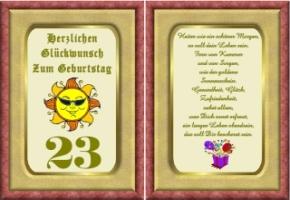 23 Geburtstag Spruche Lustige Geburtstagsgluckwunsche