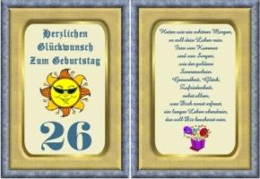 Lustige Geburtstag Wünsche 26 Jahre Kostenlos Ausdrucken