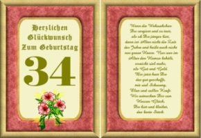 Lustige Geburtstag Wünsche 34 Jahre Kostenlos Ausdrucken