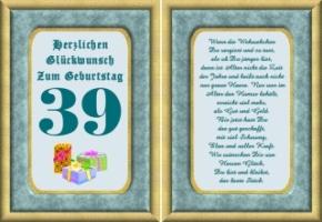 Lustige Geburtstag Wünsche 39 Jahre Kostenlos Ausdrucken