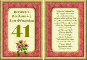 Lustige Geburtstag Wünsche 41 Jahre Kostenlos Ausdrucken
