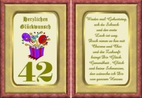 Lustige Geburtstag Wünsche 42 Jahre Kostenlos Ausdrucken