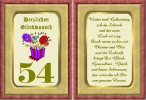 54 geburtstag Happy Birthday