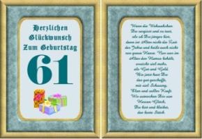 Lustige Geburtstag Wünsche 61 Jahre Kostenlos Ausdrucken