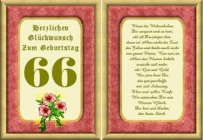Gedicht zum 66 geburtstag opa
