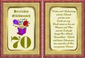 Geburtstagskarten Zum Ausdrucken 70 Geburtstag