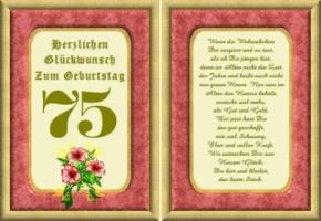 Geburtstagswünsche 75 Jahre   1