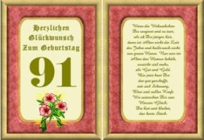 91 geburtstag sprüche